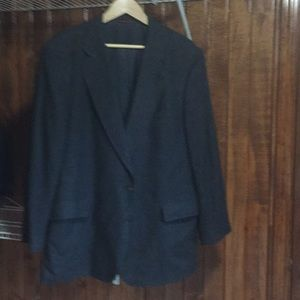 Jos A Bank blue wool herringbone sport coat